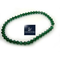 "7"" Stretch Authentic Austria Swarovski Emerald Bracelet"