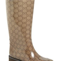 Women's Gucci 'Edimburg GG' Rain Boot,