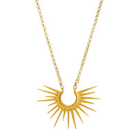 """Infinite Love"" Medium Rays Charm Necklace, Gold Plated 