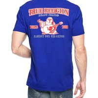 True Religion Double Puff Mens T-shirt - Vicente Blue