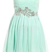New Look Mobile | AX Paris Mint Green Embellished Prom Dress