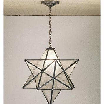 18 Inch W Moravian Star Pendant Ceiling Fixture