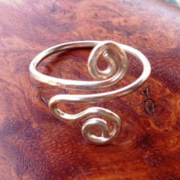 Toe-Midi-Knuckle Ring Spiral  Adjustable Size