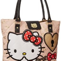 Hello Kitty Lock and Key SANTB0928 Tote,Pink/Red,One Size:Amazon:Shoes