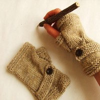 Hand Knit Fingerless Gloves / Medium size fits most by gloveshop