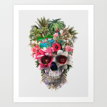Summer Skull IV Art Print by RIZA PEKER