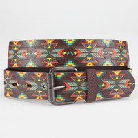 Southwest Print Faux Leather Belt Multi  In Sizes