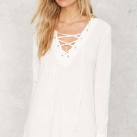 Point Dume Lace-Up Tunic Top