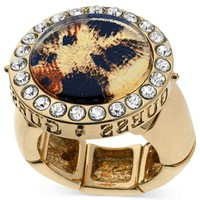 GUESS Gold-Tone Leopard Ring