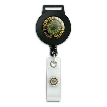 Sunflower Retractable Badge Card ID Holder