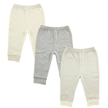 Luvable Friends Baby Boys' 3 Pack Ankle Pant