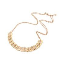 US-Lady Women's Gold Plated Chain Collar Bib Temperament Necklace