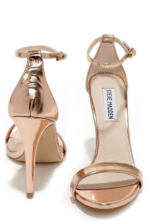 2cc1f46688e Steve Madden Stecy Rose Gold Ankle Strap from Lulu s