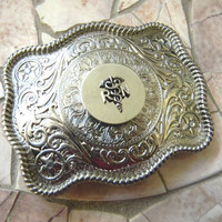 Registered Nurse Belt Buckle, RN, Nursing Student, Nursing School, Nurse Gift, LPN, Graduation Gift, Womens Silver Western Belt Buckle