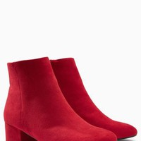 Buy Red Low Block Heel Ankle Boots from the Next UK online shop