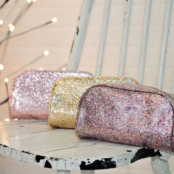 * All That Sparkles Makeup Bags : Multi