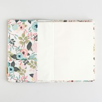 Floral Zip Pouch Journal - Peach