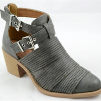 Cut Out Booties - Grey