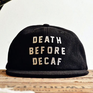 Death Before Decaf Strapback Hat