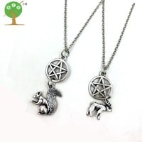1 set supernatural INSPIRATIONAL sam and dean friendship moose squirrel necklace nw2081