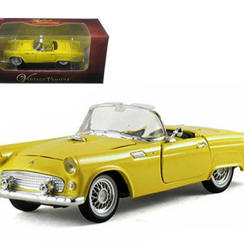 1955 Ford Thunderbird Convertible Yellow 1-32 Diecast Car Model by Arko Products
