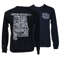 Longsleeve T-Shirt, State With Au's | Auburn University Bookstore