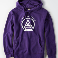 AE Fleece Throwback Cotton Sweatshirt, Purple
