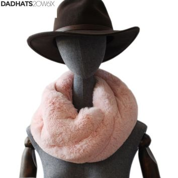 2018 New Faux Rex Rabbit Fur Collar Ring Scarves Winter Fur foulard Thick For Adult  Kids Unisex Wrap Women Men Mujer Necklace