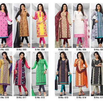 Indian bollywood Salwar kamiz suit by nikita astha light embroidery,semi stiched DRESS MATERIAL make your chioce from nkt astha collection