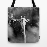 portrait of giraffe Tote Bag by Marianna Tankelevich