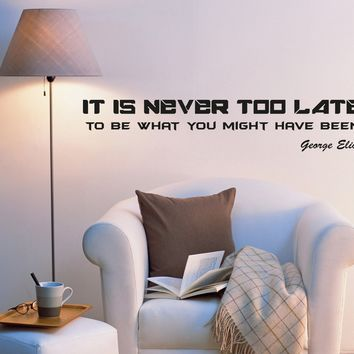 Wall Decal Motivation Wise Office Mirror Sign Lettering Vinyl Sticker (ed996) (22.5 in X 4 in)