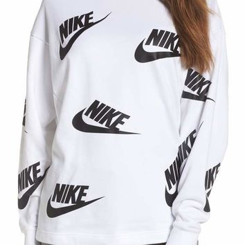Nike All Over Futura Print Sweatshirts
