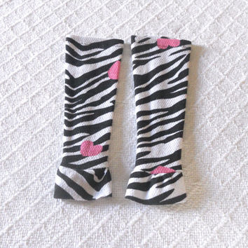 Zebra Print Newborn Baby Leg Warmers Girl, Infant Leg Warmers Girl, Girl Baby Leggings, Baby Boot Socks, Slouch Sock, Footless Sock