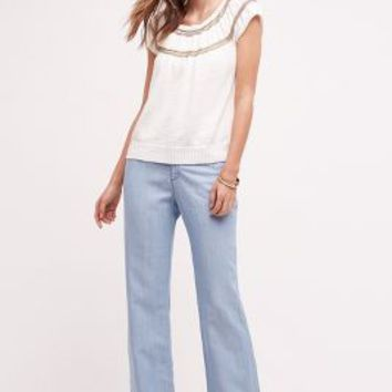 Pilcro Chambray Trousers in Light Denim Size: