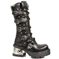 New Rock Boots - 1016 S1 Ladies Buckle Boots | New Rock | Womens Alternative Boots | FOOTWEAR | £147.00 | New Rock Gothic Clothing - Rocky Horrors