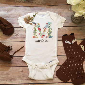 Name Onesuit®, Baby Girl Clothes, Baby Shower Gift, Custom Onesuit, Cute Baby Onesuit, Newborn Girl Take Home Outfit, Monogram Onesuit Girl Gift