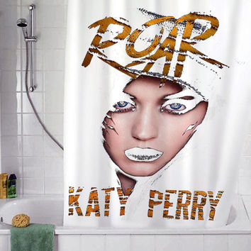 "Katty Perry Roar christmas gift, Custom Shower curtain, Sizes available size 36""w x 72""h 48""w x 72""h 60""w x 72""h 66""w x 72""h"