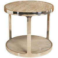 Soto Round Polished Steel Side Table