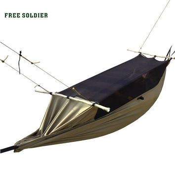 FREE SOLDIER Outdoor Sports Camping Survivor Portable Mosquito Hammock Wear-Resisting Large Tent For Person 180-195cm Hammock