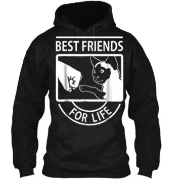 Siamese Cat - Best Friends For Life  Pullover Hoodie 8 oz