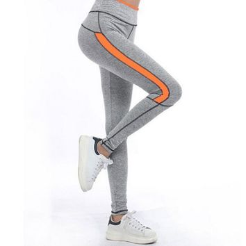 Solid and Side Stripe Active Leggings
