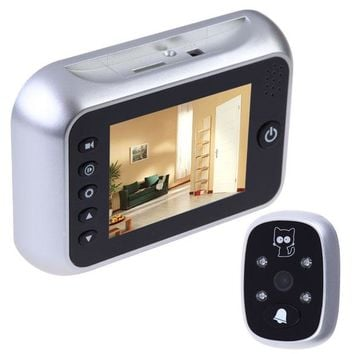 Intelligent safety visible Door Bell 3.5 LCD Digital Peephole Viewer Door Eye Doorbell Video IR Camera Doorbell BS