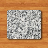 Granit Marble Tile Art Flower Stone Computer MousePad Black White Rock Mouse Pad Stone Personalized Custom Art Teacher Gift New Collection