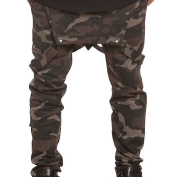 The Tapered Stretch Overalls in Camo