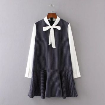 Loose striped dress B0016413
