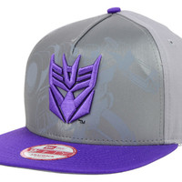 Transformers Hero Reflective Logo 9FIFTY Snapback Cap - Decepticon