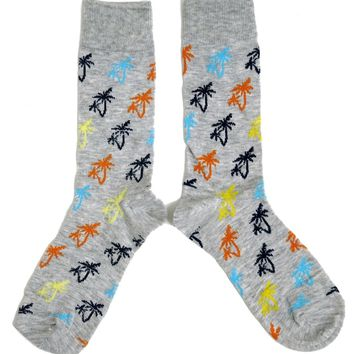 MENS TROPICAL BREEZE PALM TREE SOCKS UK 6-11 / EUR 39-45 / US 7-12