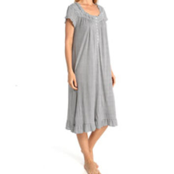 Eileen West 5515933 Dotted Bloom Cap Sleeve Waltz Nightgown
