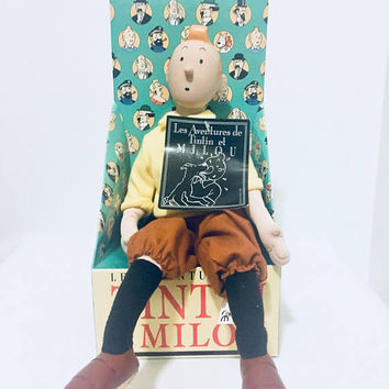 RARE 1991 GUND Les Adventures de TinTin Doll NIB, Antique Alchemy