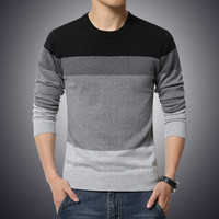 Tonal Gray Crew Neck Sweater